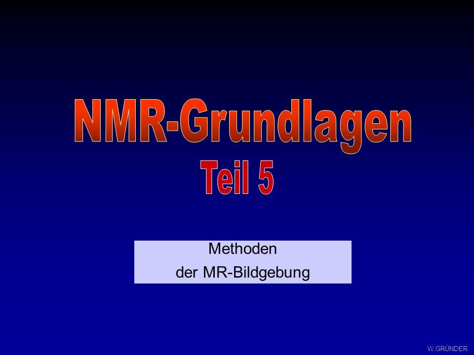 W.GRÜNDER Methoden der MR-Bildgebung