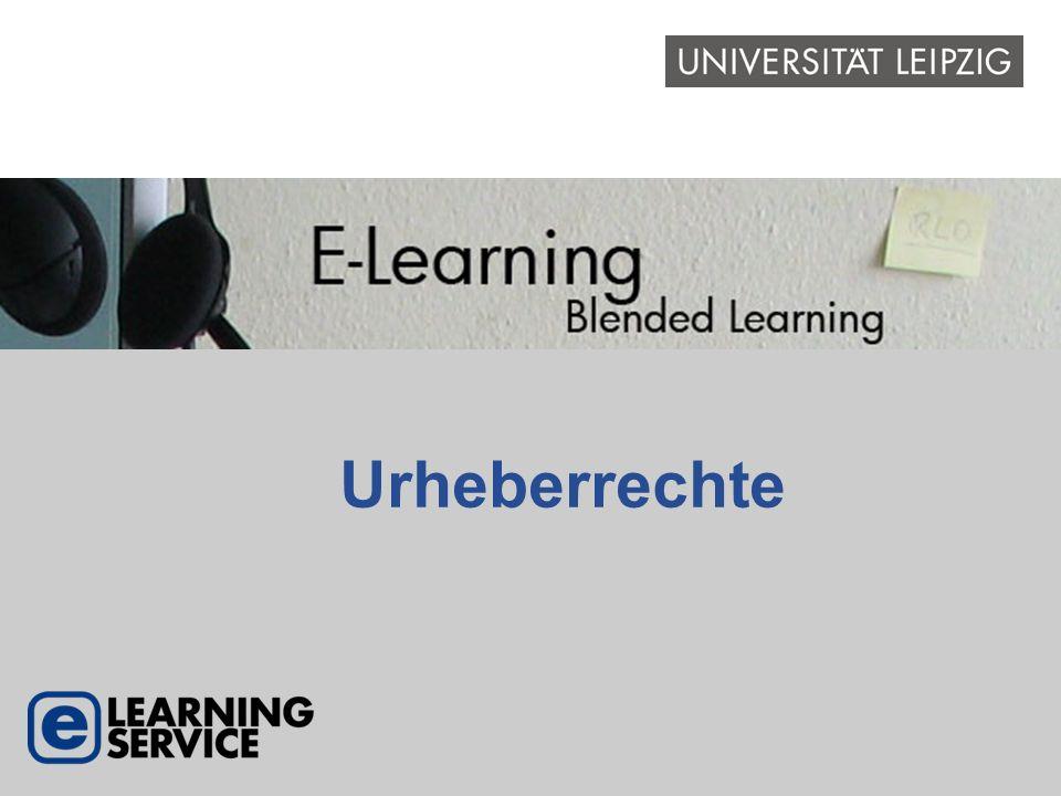 E-Learning – Rechtliche Aspekte Lehrmaterialien, die in einer Veranstaltung verwendet werden sollen, bestehen häufig – vollständig oder zum Teil – aus Werken, die von Dritten erstellt wurden.