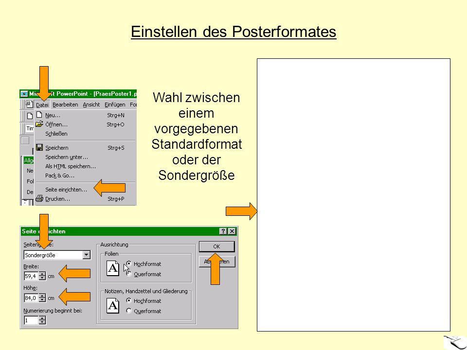 Einfügen von Textfeldern Erzeugte Textfelder sind vorerst leer und werden nachfolgend formatiert und mit Text versehen.