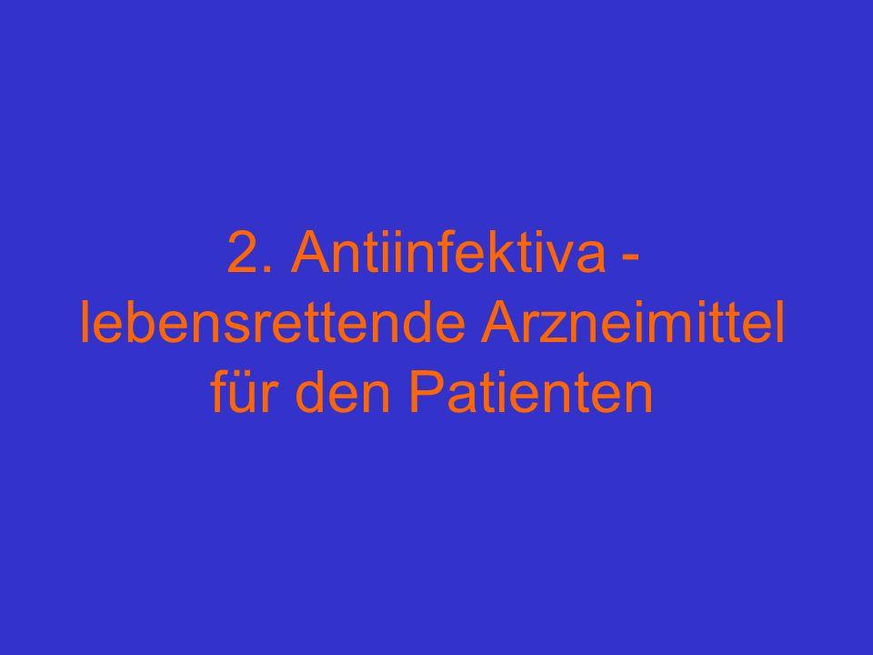 2. Antiinfektiva - lebensrettende Arzneimittel für den Patienten