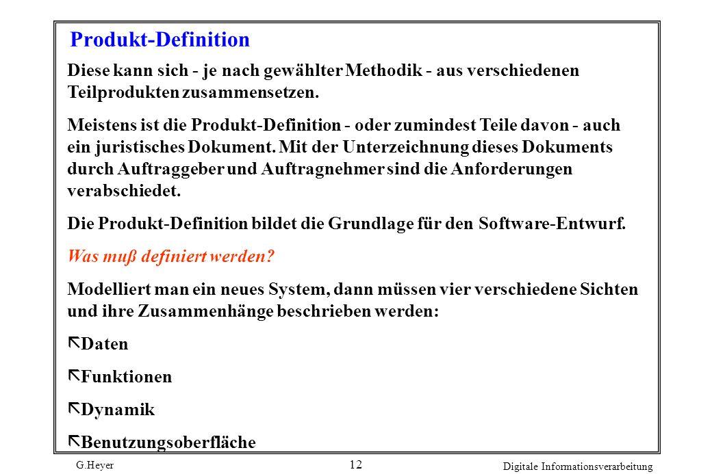 G.Heyer Digitale Informationsverarbeitung 11 Seminaranmeldung Als Teilnehmer zu nachfolgenden Seminaren wird angemeldet: TitelVornameName vombis Anmel