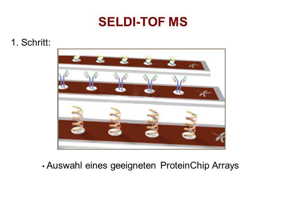 SELDI-TOF MS 1. Schritt: Auswahl eines geeigneten ProteinChip Arrays
