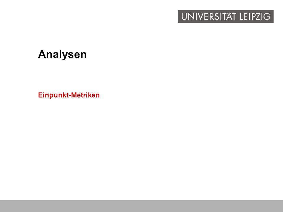 Einpunkt-Metriken Analysen