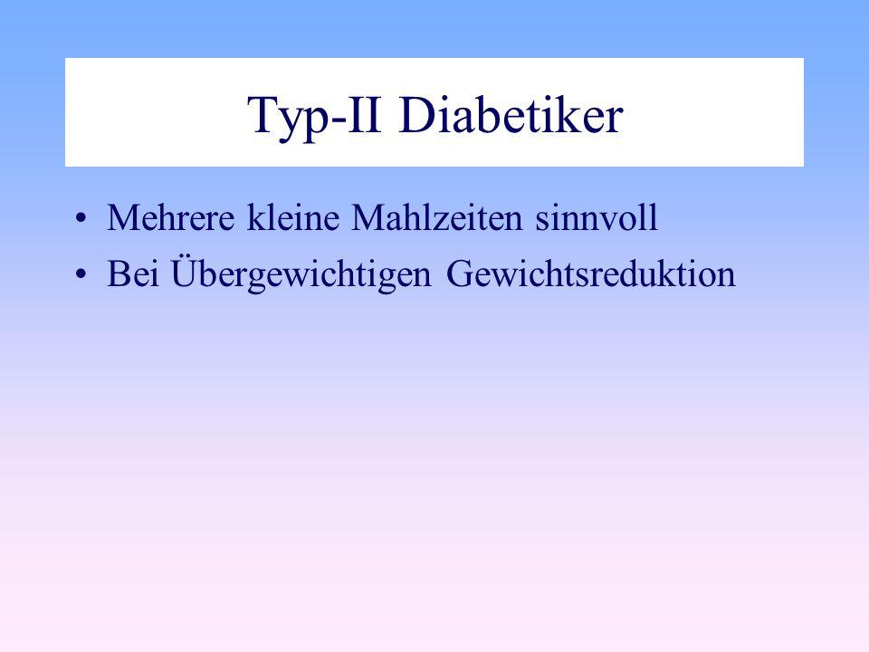 Typ-II Diabetiker Mehrere kleine Mahlzeiten sinnvoll Bei Übergewichtigen Gewichtsreduktion