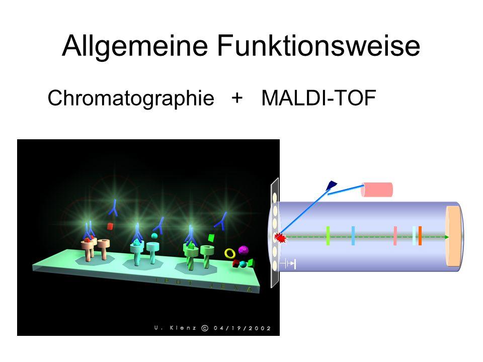 Allgemeine Funktionsweise Chromatographie + MALDI-TOF