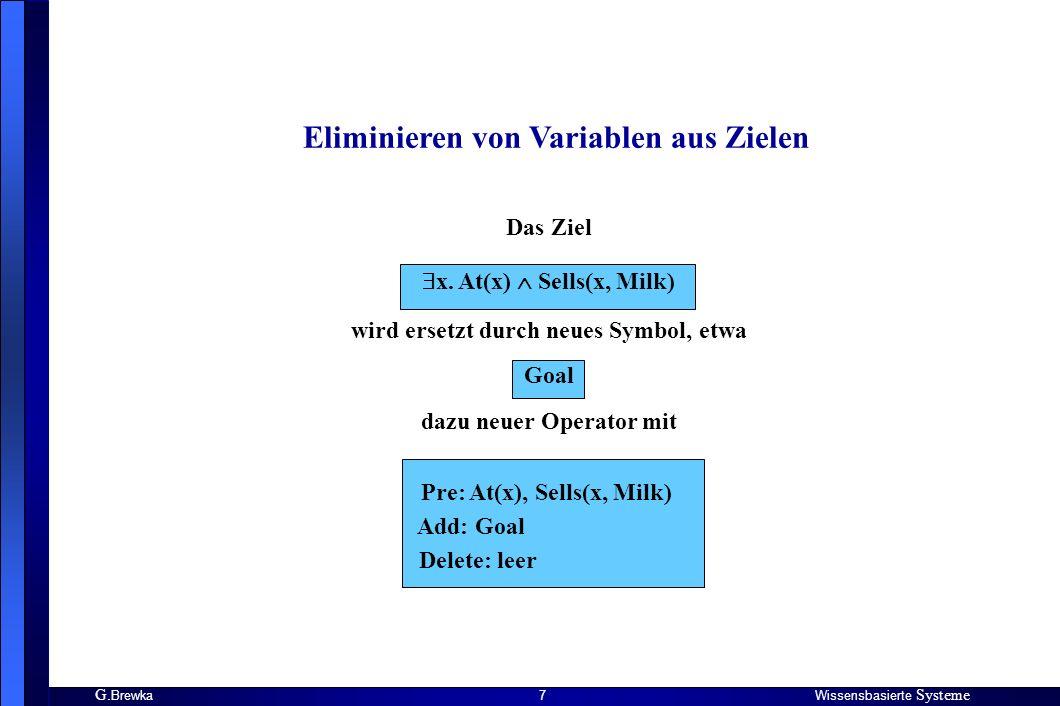 G.BrewkaWissensbasierte Systeme 8 2.