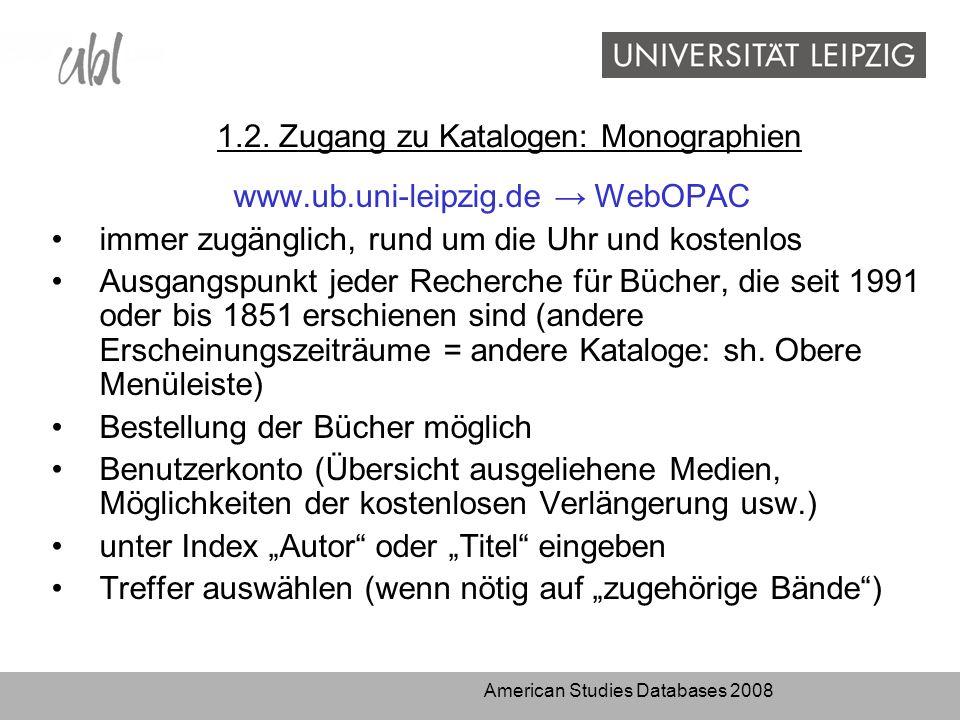 American Studies Databases 2008 1.2.