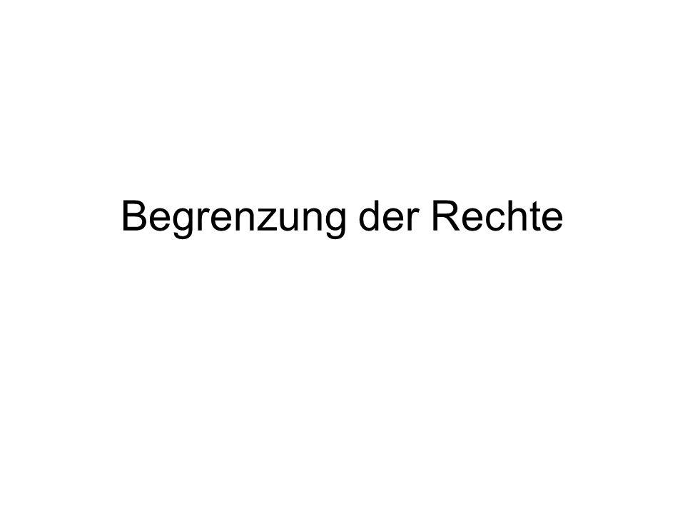 Subjektive Rechte: Herrschaftsrechte –Sachenrechte (Eigentum, andere dingl.