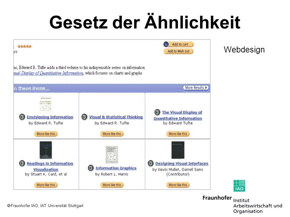 Fraunhofer IAO, IAT Universität Stuttgart Gesetz der Ähnlichkeit Webdesign