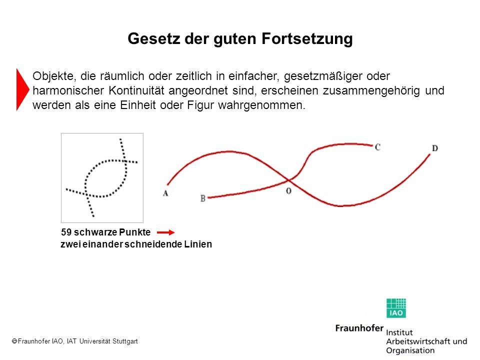 Fraunhofer IAO, IAT Universität Stuttgart zwei einander schneidende Linien 59 schwarze Punkte Objekte, die räumlich oder zeitlich in einfacher, gesetz