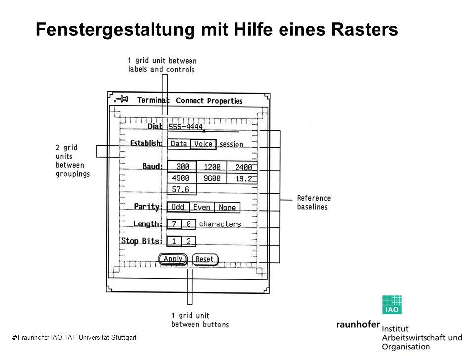 Fraunhofer IAO, IAT Universität Stuttgart Fenstergestaltung mit Hilfe eines Rasters
