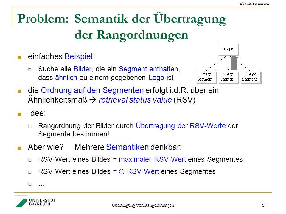 BTW, 26. Februar 2003 Übertragung von Rangordnungen S.