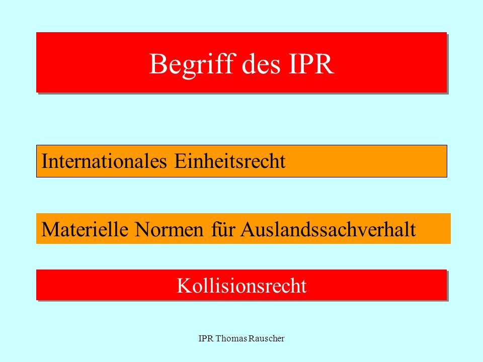 IPR Thomas Rauscher Verbraucherverträge vor 17.12.09 Art 29 aF bestimmte Vertragstypen + Verbraucher + Vertragsabschluss- situationen -Lieferung bewgl Sachen -Dienstleistungen - deren Finanzierung - mit Ausnahme von Abs 4 Vertragszweck nicht beruflicher/gewerblicher Tätigkeit zuzurechnen Nr 1 Werbung, Angebot im Nr 2 Bestellungsannahme im Nr 3 veranlasste Kauf-Reise aus dem Aufenthaltsstaat des Verbr.
