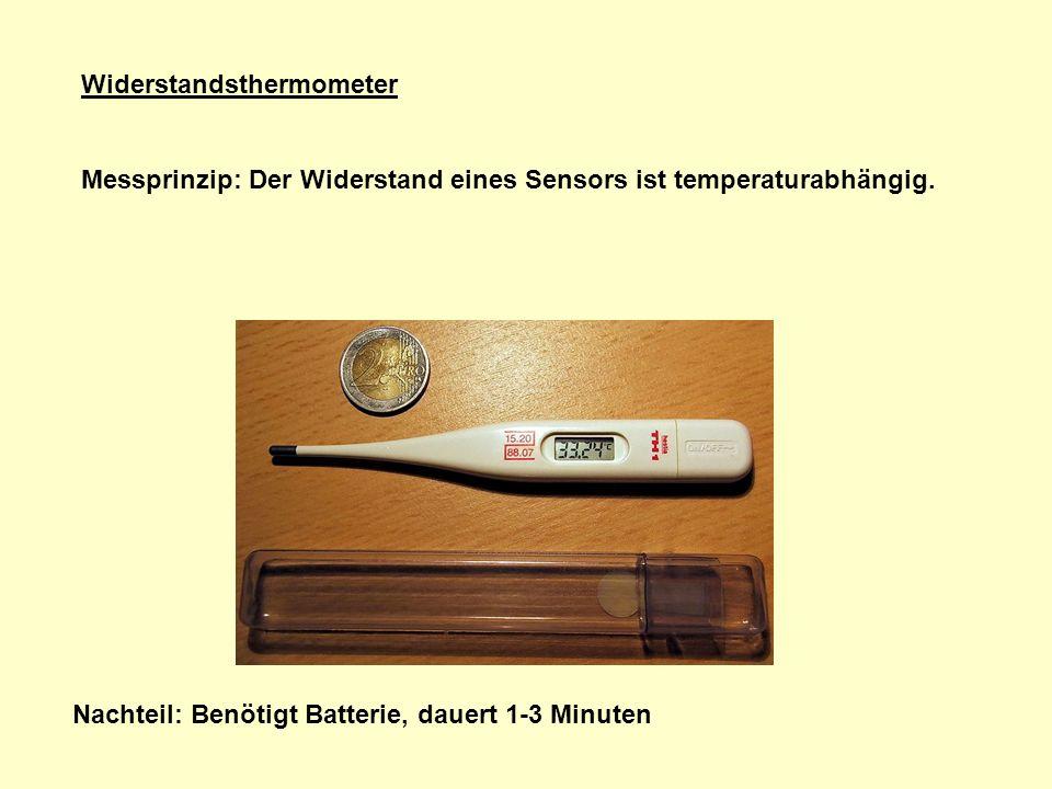 Widerstandsthermometer Messprinzip: Der Widerstand eines Sensors ist temperaturabhängig.