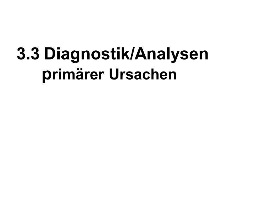 3.3Diagnostik/Analysen p rimärer Ursachen