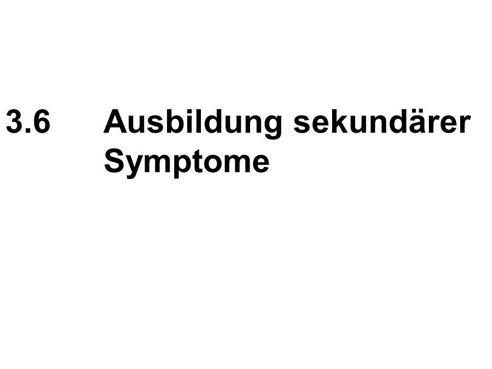 3.6Ausbildung sekundärer Symptome