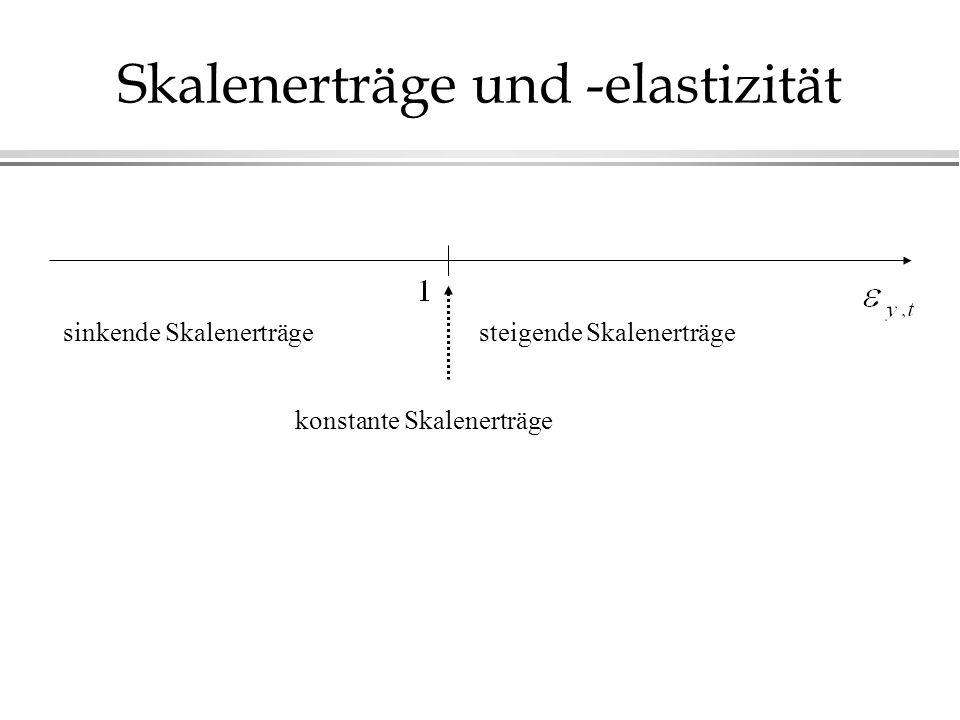 sinkende Skalenerträgesteigende Skalenerträge konstante Skalenerträge Skalenerträge und -elastizität
