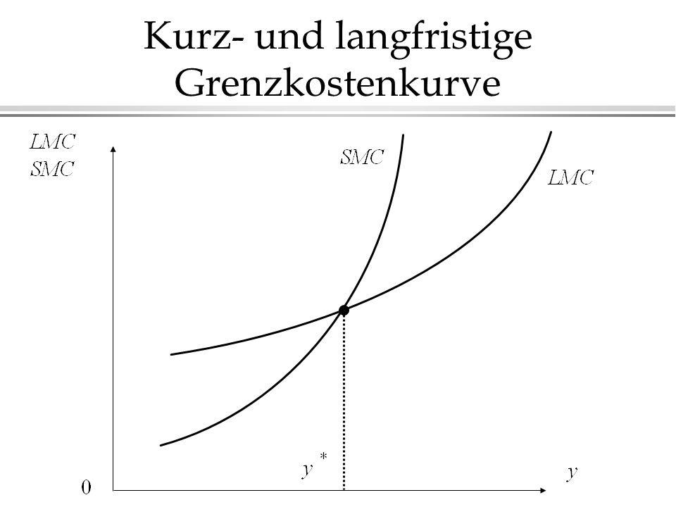 Kurz- und langfristige Grenzkostenkurve
