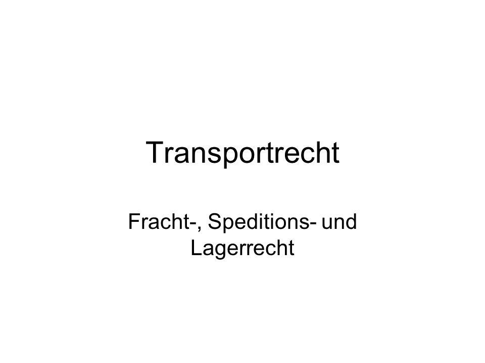 Frachtrecht §§ 407 ff.
