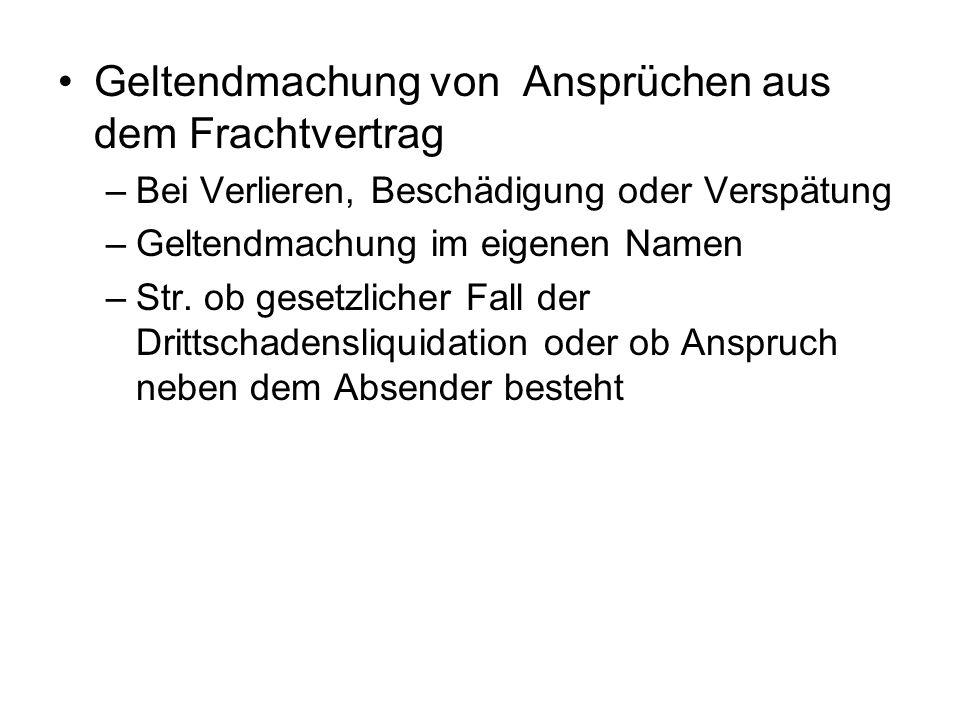 Sonderregelungen Für Umzugsverträge gem.§§ 451 ff.