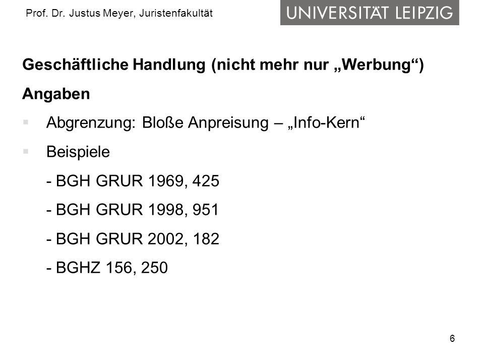17 Prof.Dr. Justus Meyer, Juristenfakultät 4.