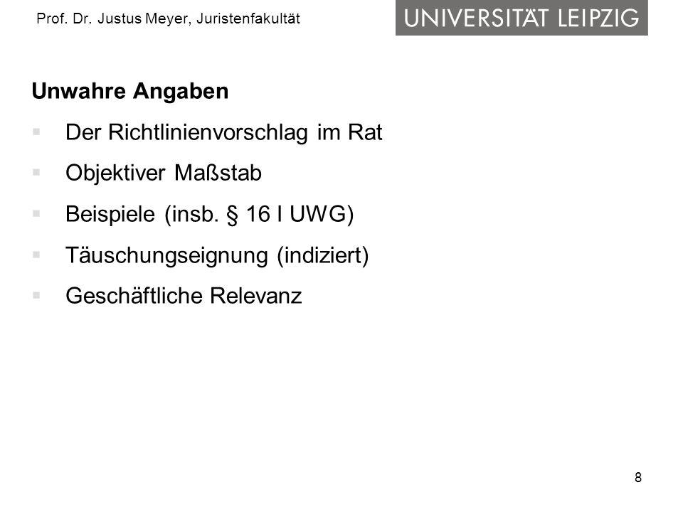 19 Prof.Dr. Justus Meyer, Juristenfakultät b) Preis usw.