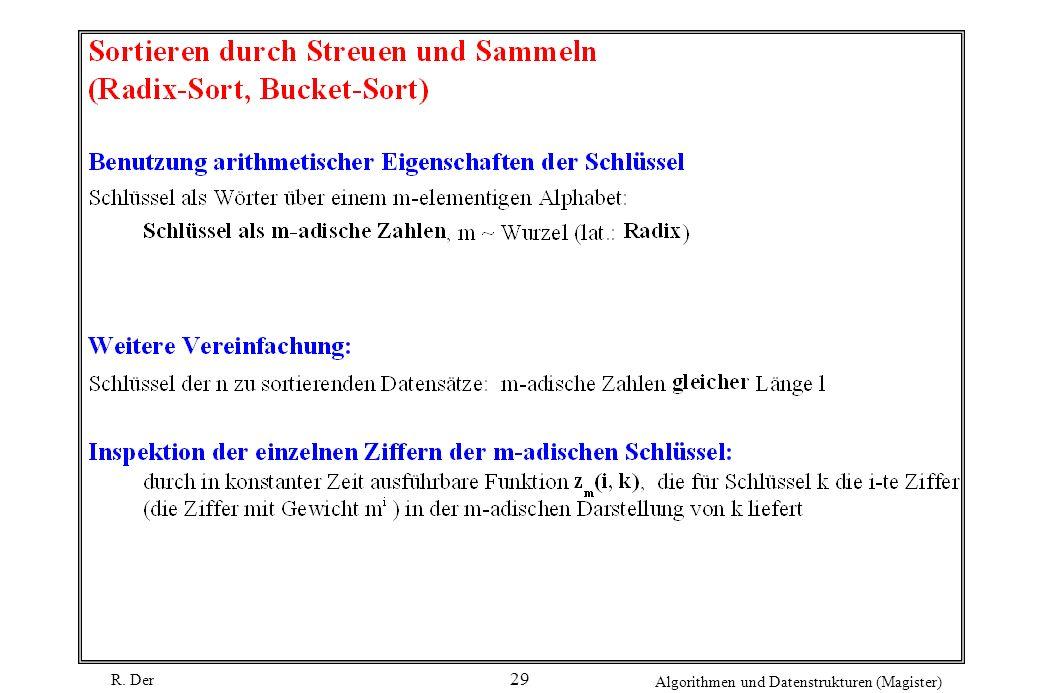 R. Der Algorithmen und Datenstrukturen (Magister) 29