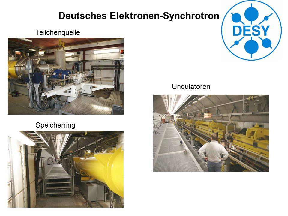 Deutsches Elektronen-Synchrotron Teilchenquelle Speicherring Undulatoren
