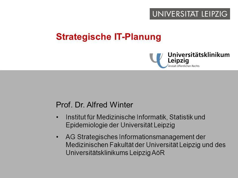 A. Winter: Strategische IT-Planung Problem Informations- management IT-Rahmen- konzept Erstellung des IT- Rahmen- konzepts Strategische IT-Planung Pro