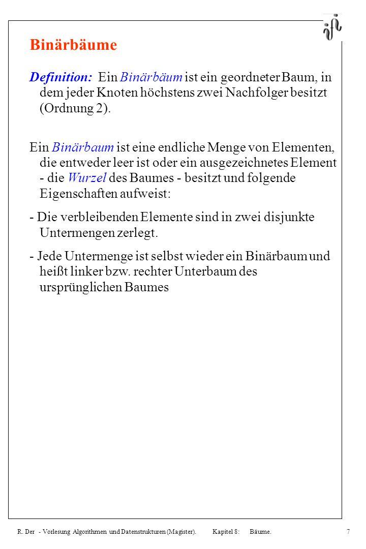R.Der - Vorlesung Algorithmen und Datenstrukturen (Magister).