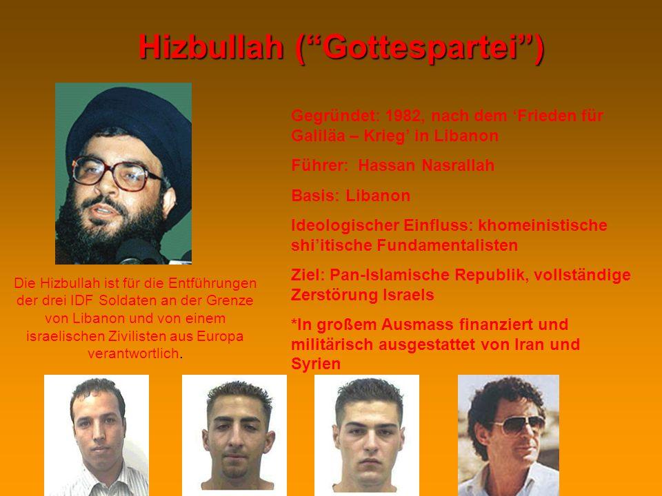 Israels Sicherheitsbedenken Iran:Iran: 1.Konventionelle Bedrohung der östl. Grenzen Israels (bis zum Irakkrieg) 2.Iranische Unterstützung der Terrorak