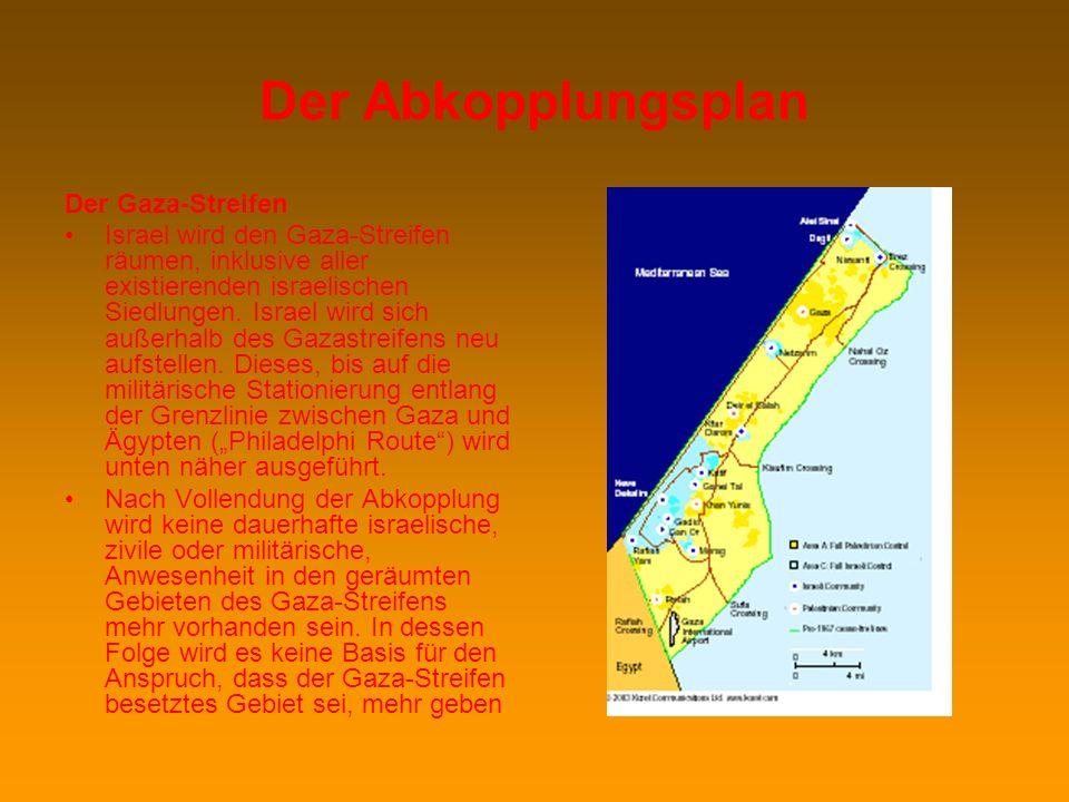 Israel ist dem Friedensprozess verpflichtet und strebt ein Abkommen auf der Basis zweier Staaten für zweier Völker an (…) Israel ist überzeugt, dass e