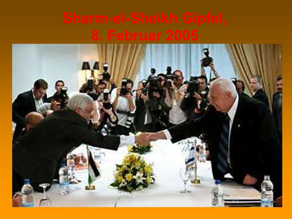 9. Januar 2005: Wahlen in der Palästinensischen Autonomiebehörde Ansprache des vereidigten Vorsitzenden am 15.1.2005, Ramallah