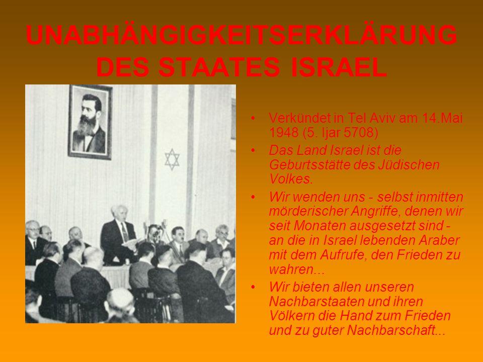 RESOLUTION 181 Nach langen Erörterungen in verschiedenen UNO-Gremien wurde am 29. November 1947 Resolution Nr. 181 (II) der Vollversammlung zur Abstim