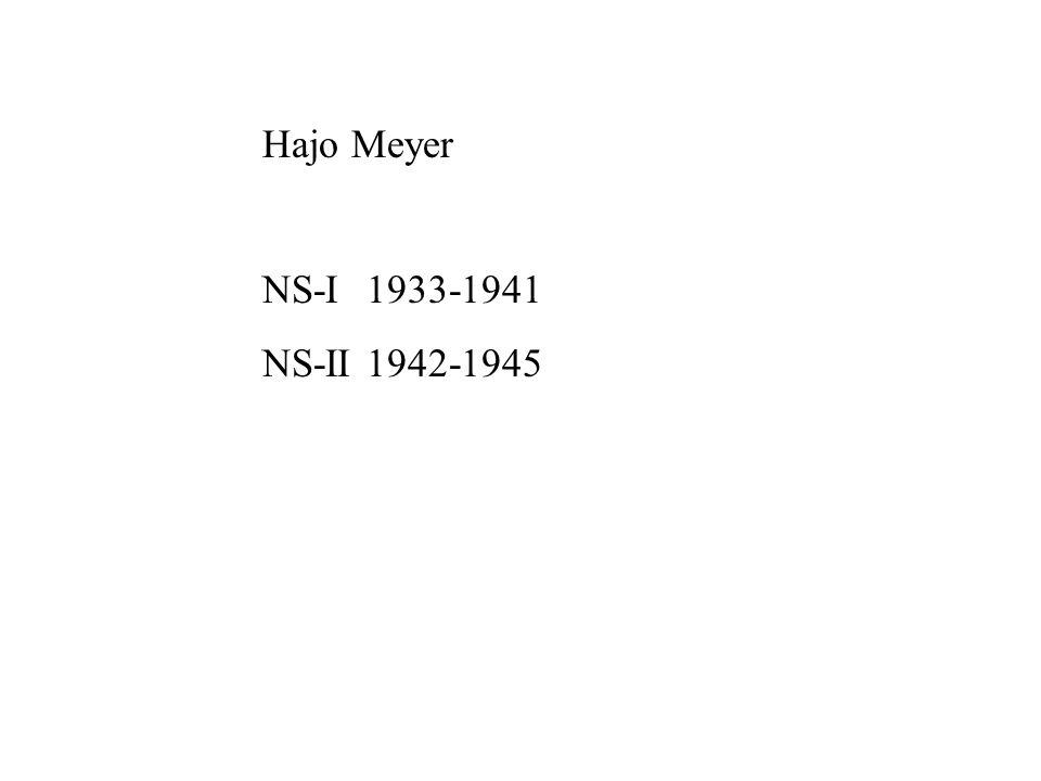 Hajo Meyer NS-I1933-1941 NS-II1942-1945