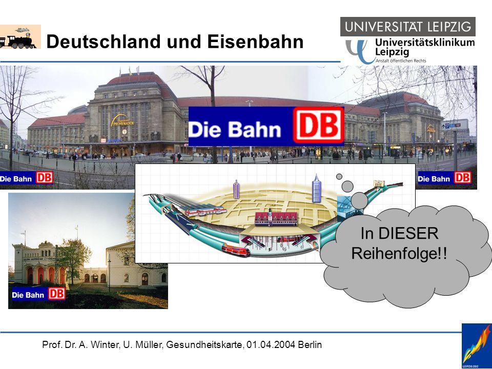 Prof. Dr. A. Winter, U. Müller, Gesundheitskarte, 01.04.2004 Berlin Deutschland und Eisenbahn In DIESER Reihenfolge!!