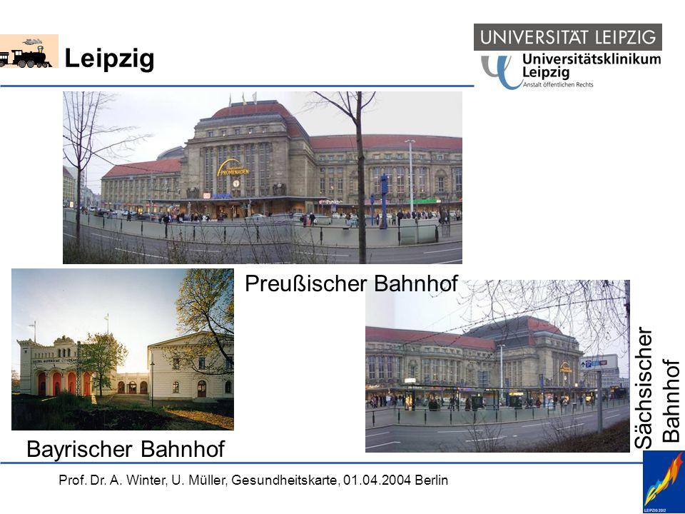 Prof. Dr. A. Winter, U. Müller, Gesundheitskarte, 01.04.2004 Berlin Leipzig Bayrischer Bahnhof Sächsischer Bahnhof Preußischer Bahnhof