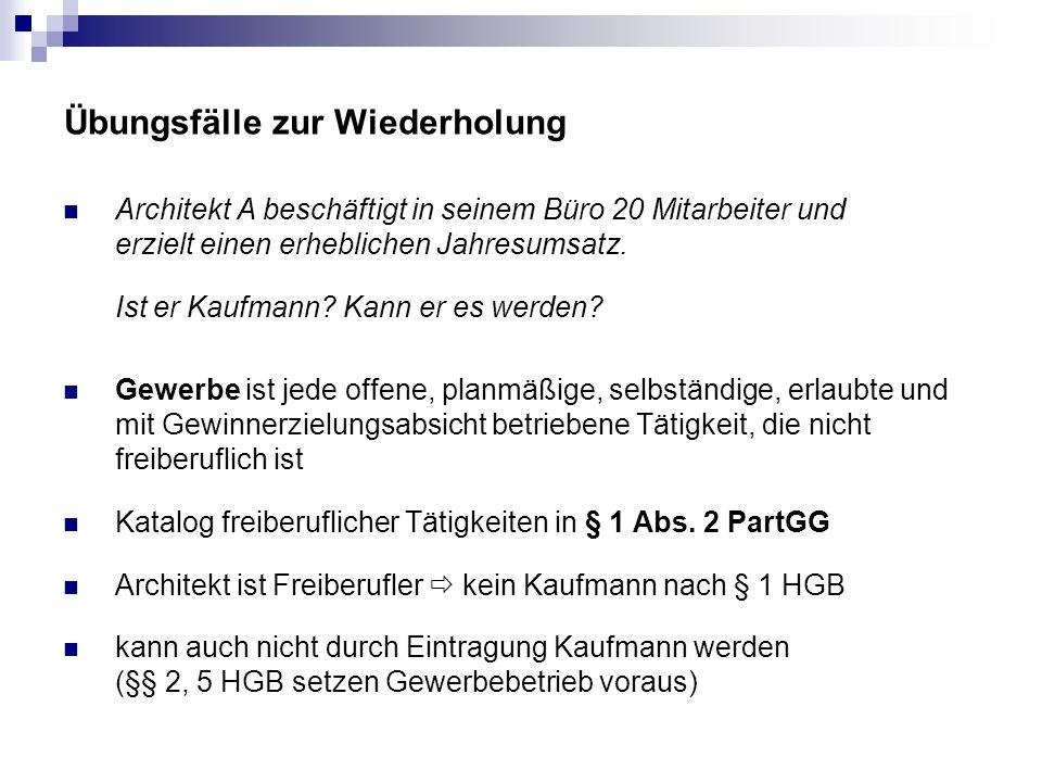 Prokura, §§ 48 ff.HGB Grenzen der Vertretungsmacht ??.