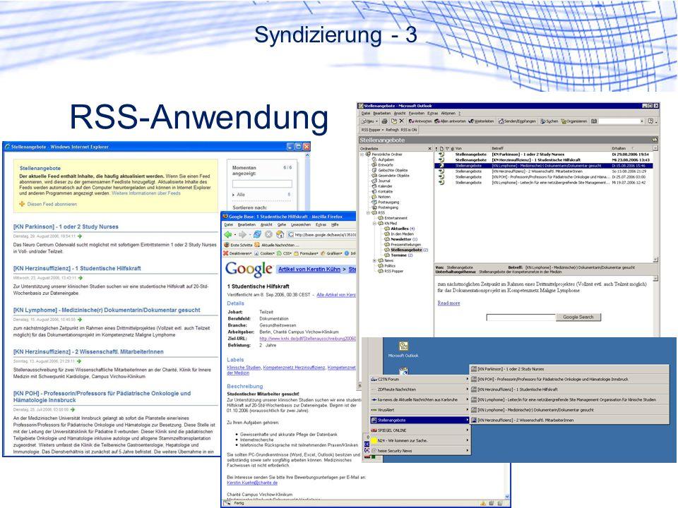 RSS-Anwendung Syndizierung - 3