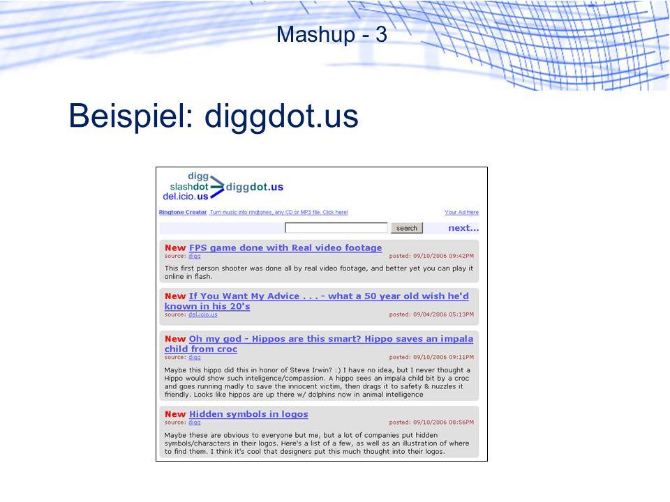 Beispiel: diggdot.us Mashup - 3