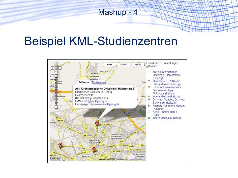 Beispiel KML-Studienzentren Mashup - 4