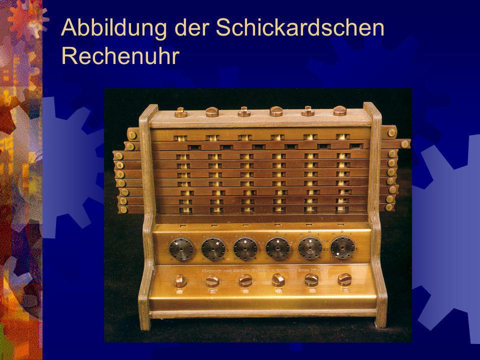 Abbildung der Schickardschen Rechenuhr