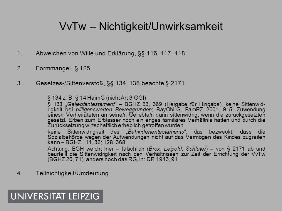 VvTw – Gesetzesverstoß Der verwitwete und kinderlose Egbert Ermlich hielt sich seit 1997 im Pflegeheim auf.