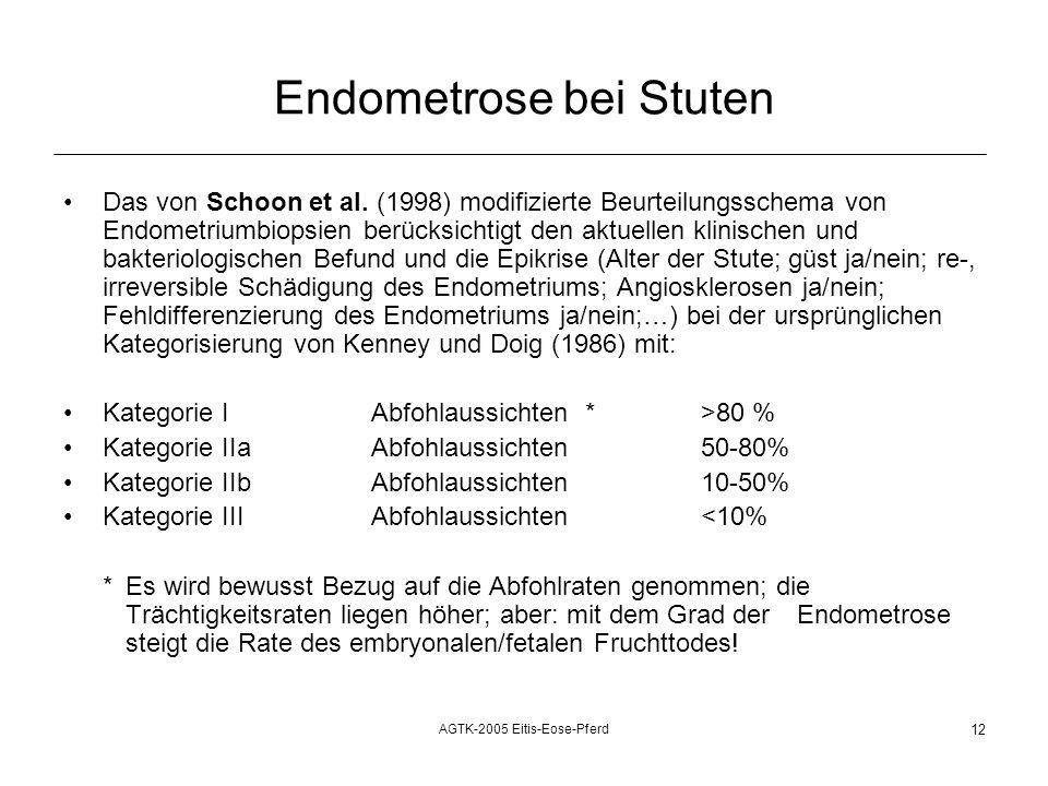 AGTK-2005 Eitis-Eose-Pferd 12 Endometrose bei Stuten Das von Schoon et al.