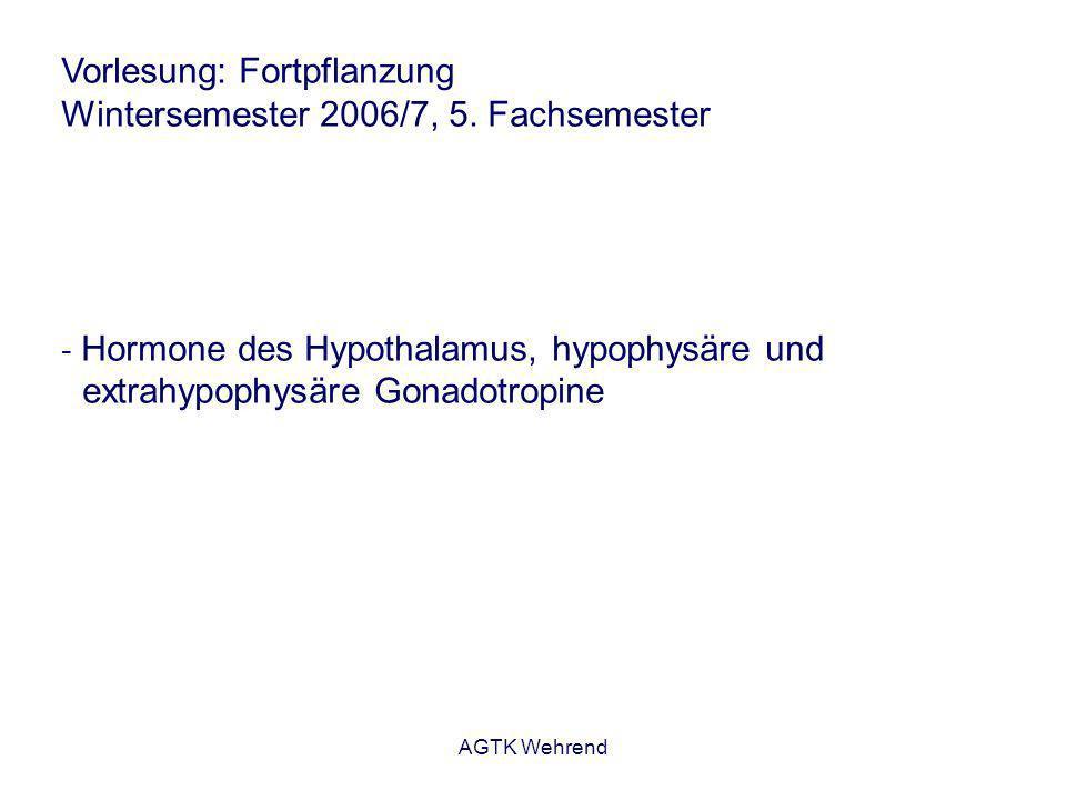 AGTK Wehrend Gonadotropin-Releasing-Hormon Indikationen Rind: - Ovulationsinduktion - Behandlung von Follikel-Theka-Zysten - Azyklie - Anregung der Ovarfunktion post partum Beachte beim GnRH-Einsatz post partum: - innerhalb der ersten 2.