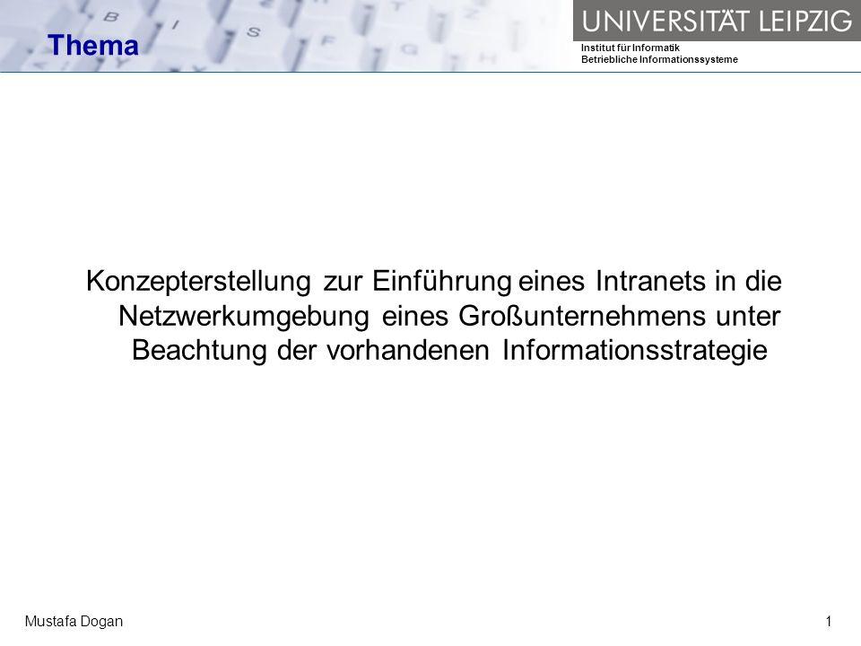 Institut für Informatik Betriebliche Informationssysteme Mustafa Dogan12 Ist-Aufnahme: Erhebungstechniken Quelle: Steinmann; Netzwerk-Organisation; Bonn 1997