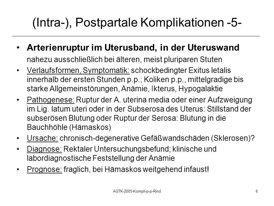 AGTK-2005-Kompli-p-p-Rind7 (Intra-), Postpartale Komplikationen -6- (Inversion uteri), Inversio et prolapsus uteri (i.p.), p.p.