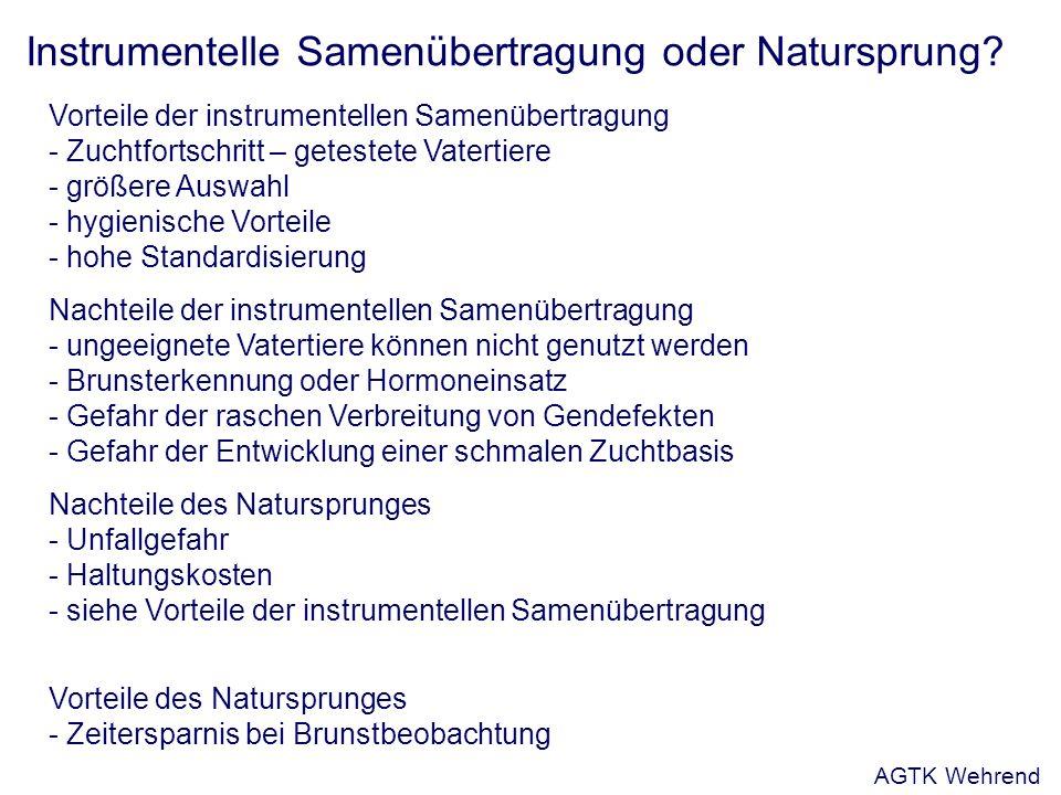 Instrumentelle Samenübertragung oder Natursprung.