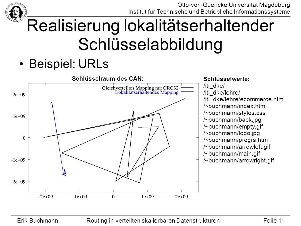 Otto-von-Guericke Universität Magdeburg Institut für Technische und Betriebliche Informationssysteme Erik Buchmann Folie 11 Routing in verteilten skal
