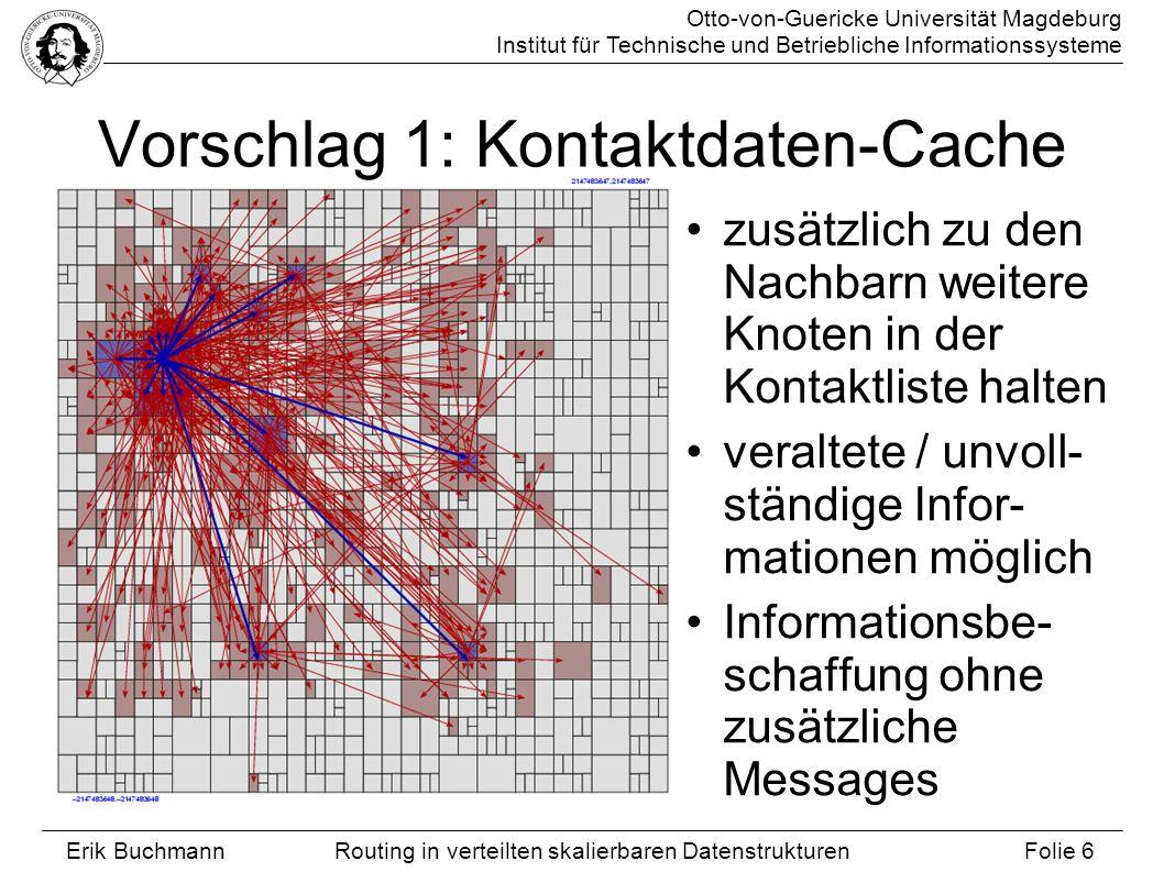 Otto-von-Guericke Universität Magdeburg Institut für Technische und Betriebliche Informationssysteme Erik Buchmann Folie 6 Routing in verteilten skali